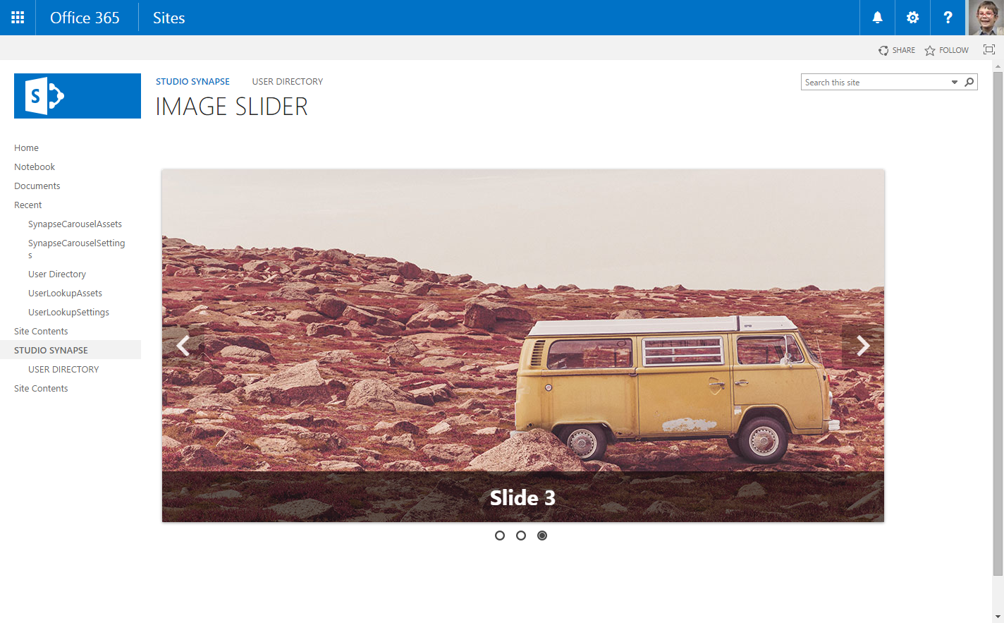 image slider for office 365  u0026 sharepoint online  2013